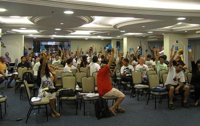 Plenária Nacional, realizada no Hotel San Marco, em Brasília.